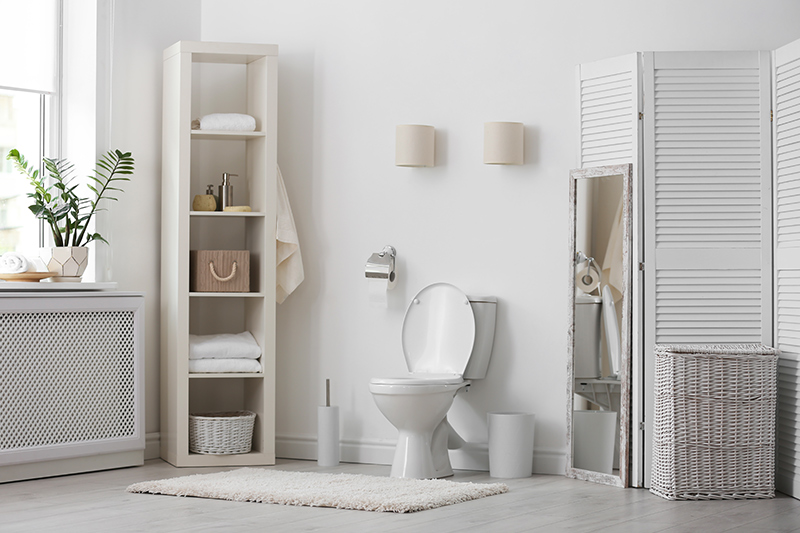Approaches to Organize A Bathroom Without Storage Space